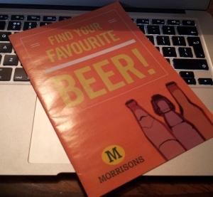 Morrisons beer leaflet front
