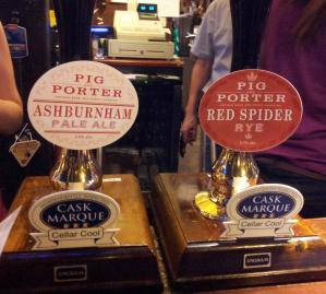 Pig & Porter beer. What to look for on the bar in Kent, Sussex - and Surrey - pubs.