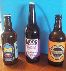 Best of the west: beers from Forge Brewery, Moor Beer and Sixpenny Brewery.