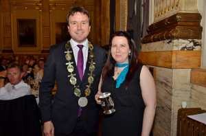 Receiving the Beer Sommelier of the Year award from APPBG Chairman Andrew Griffiths MP