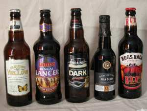 The beers that made it through the selection process!