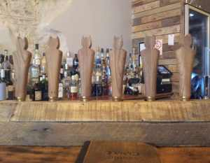 Bat handpumps at The Hanging Bat