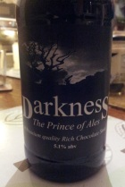 Exeter Brewery Darkness - a fine example of a stout.