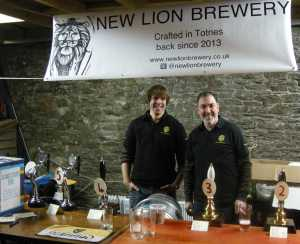 New Lion Brewer Mat Henney (left) with colleague Paul Hawksworth at their launch event.