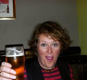 Cheers! Belinda loves a pint of Thornbridge Jaipur