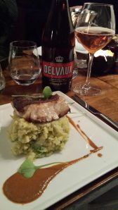 Beer and food matching: Skrei with Savoy cabbage mash paired with Delvaux Special Blond.