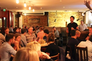Beavertown founder, Logan Plant, addresses his sold out event at Duke's Brew & Que