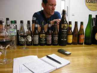 Stuart Howe during our extensive beer tasting
