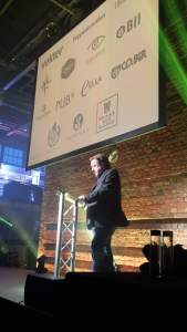 Pete Brown at the Beer Marketing Awards 2015