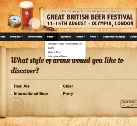 GBBF Beer Finder screen shot