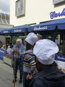 Antonio Carluccio outside his Woking restaurant